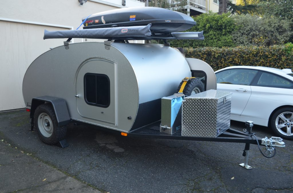 Teardrop trailer with bathroom