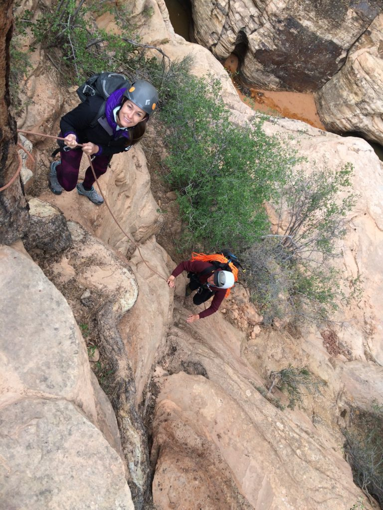 Canyoneering in Water Canyon, outside of Zion National Park, Utah
