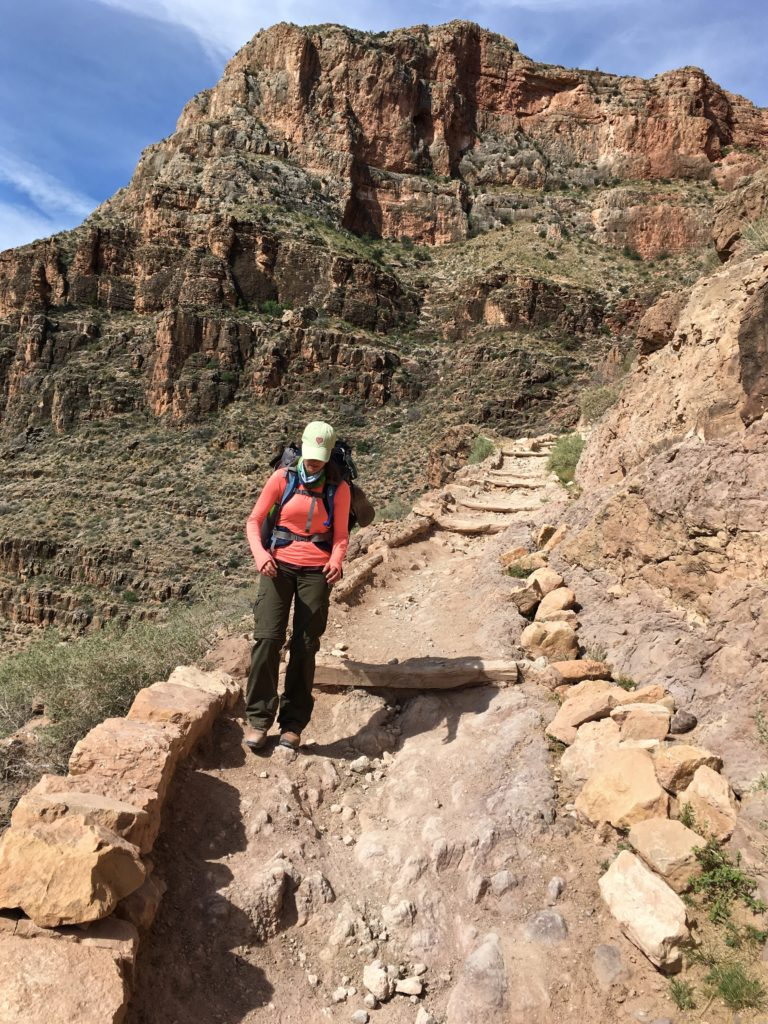 Hiking the South Kaibab Trail in the Grand Canyon, Arizona