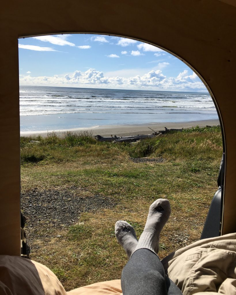 Olympic Peninsula, Washington, USA, view from the camper