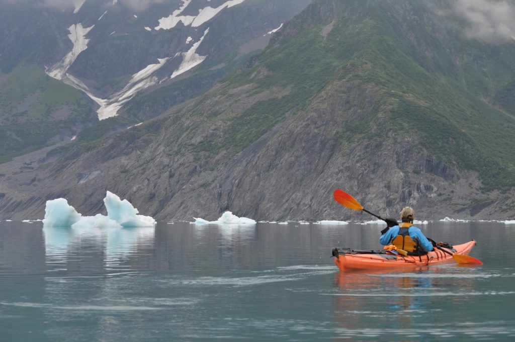 Kayaking Aialik Bay, Kenai Fjords National Park, Alaska