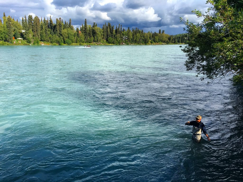 Salmon fishing on the Kenai River, Soldotna, Alaska