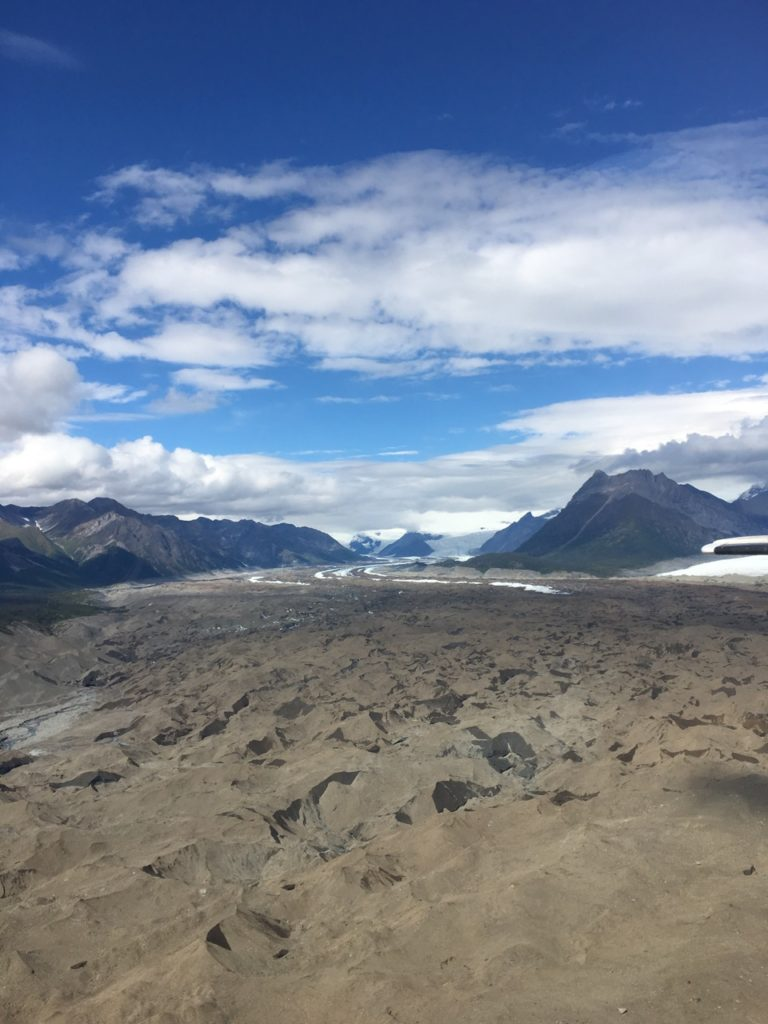 Root Glacier, a rock glacier in Wrangell-St. Elias National Park